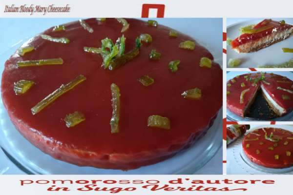 Italian Bloody Mary Cheesecake