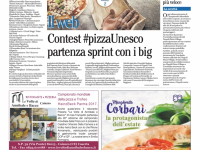 Contest #pizzaUnesco partenza sprint con i big
