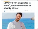 "L'evento ""Un angelo tra le stelle"", anche Palamaro al charity dinner"