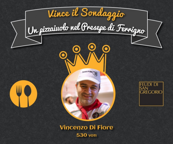 And 'Vincenzo Di Fiore pizza maker who wins the poll Mysocialrecipe in partnership with Feudi San Gregorio, and enters the crib Ferrigno